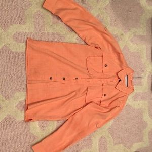 Magellan Boys Orange Laguna Madre Fishing Shirt
